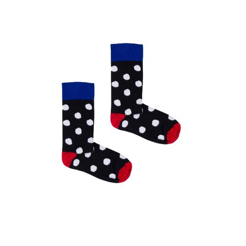 Kabak - Classic black with big white dots - Socks
