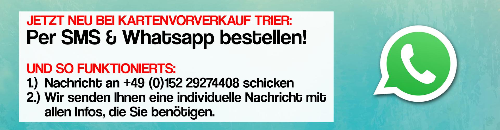 Per Whatsapp bestellen
